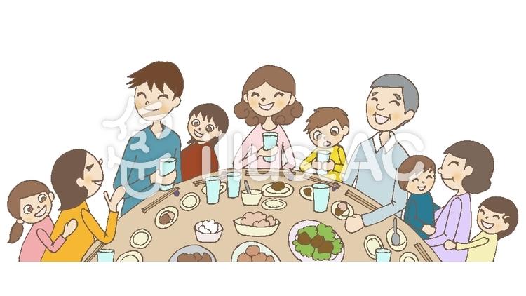 家族 食事 イラスト