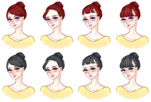 "Girls' hair style ""Dumpling B"""