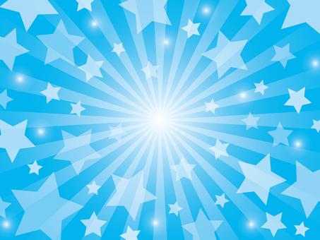 Stars radial background (light blue)