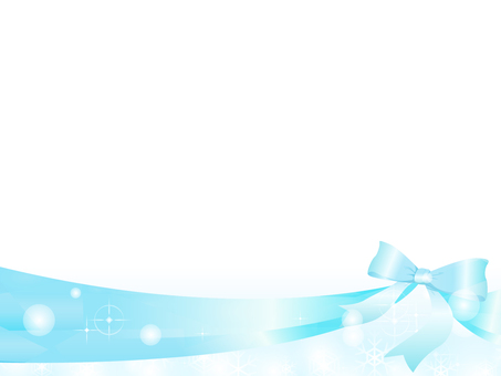 Blue ribbon decorative frame
