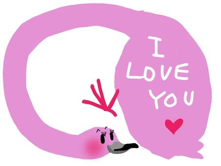 Flamingo's frame
