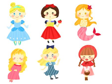 Heroine set of fairy tale