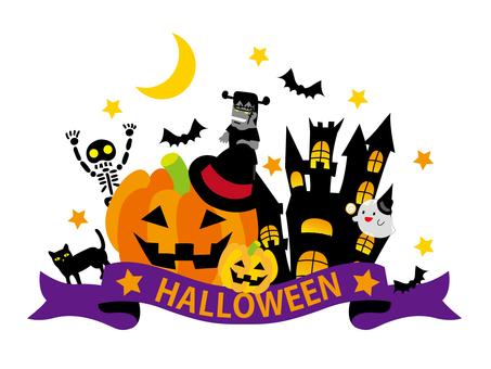 Halloween logo style illustration
