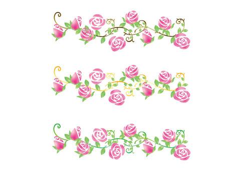 Rose flower line sideways