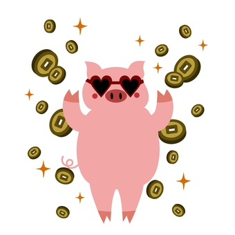 Pigs and coin