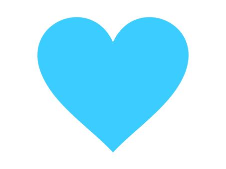 Heart (light blue)