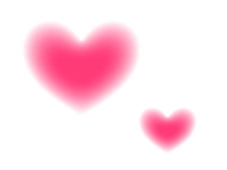 Outline blurred heart
