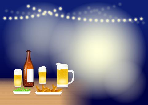 Night beer garden (sideways)