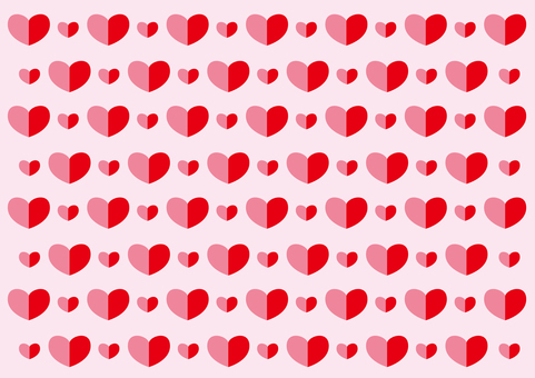 Wallpaper - Heart 2 colors - red