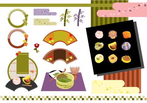 Japanese sweets and decorations