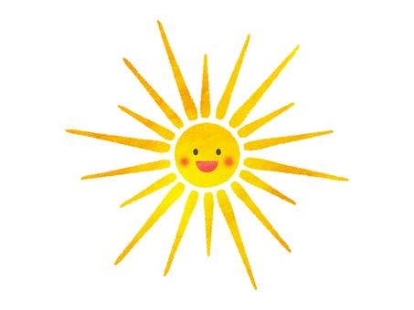 여름의 태양 미소