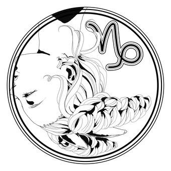 12星座シンボル【山羊座】