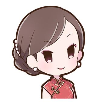 차이나 드레스 여성 01_Ab