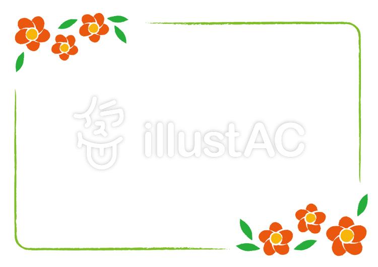 かわいい花のポストカードイラスト No 463719無料イラスト