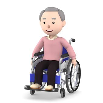 Wheelchair old man 08