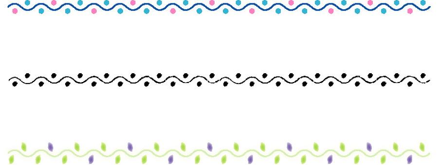 Wavy line decoration line