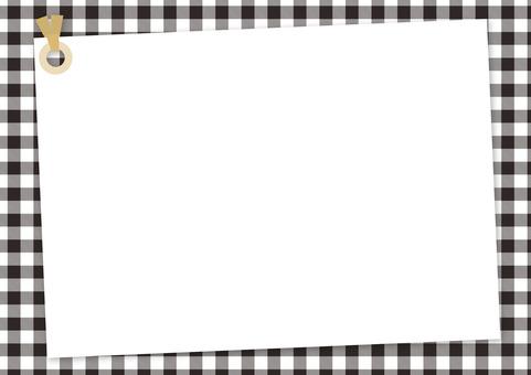 Memo tag <black × white gingham>