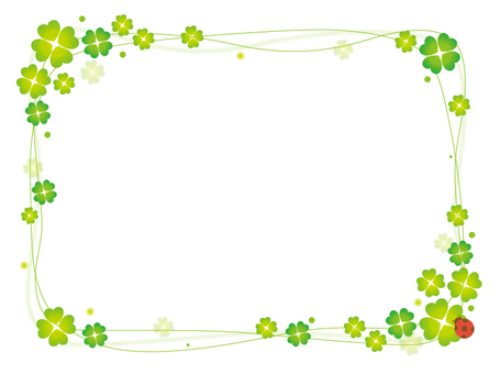 Clover decorative frame