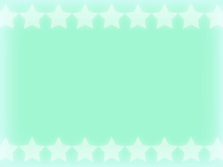 Mint green star frame