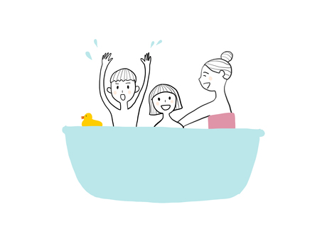 Parent and child bathing