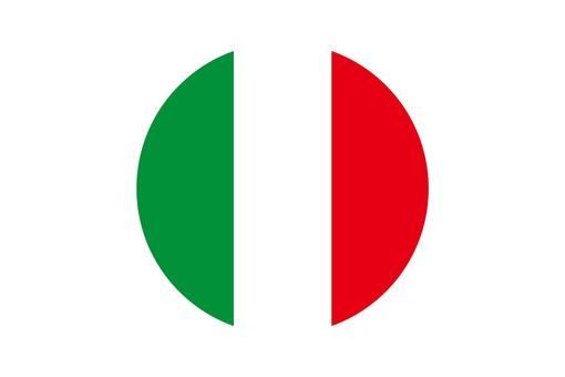 Italian flag round icon