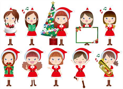 圣诞老人女孩集