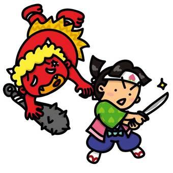 Long ago: Momotaro