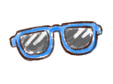 Crayon Series [Sunglasses / Blue]