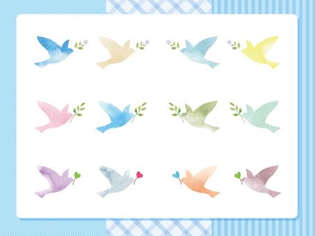 幸せの鳥-ブルー
