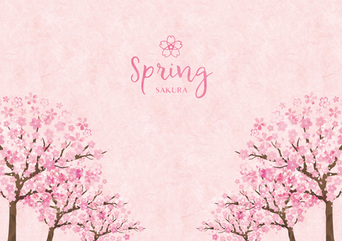 Spring background frame 030 Sakura watercolor paper