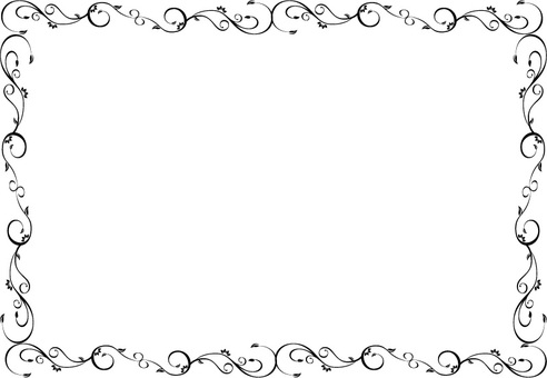 Elegant Urasadori Border Frame - Black and White