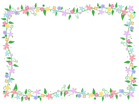 Flower decoration frame 9
