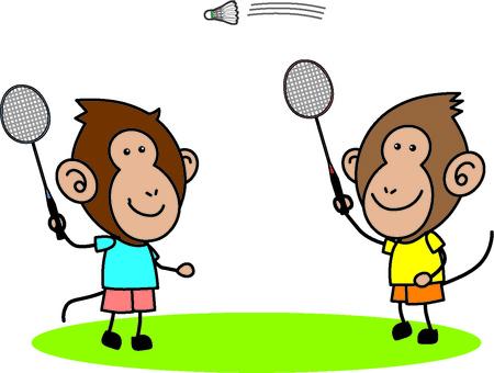 Monkey badminton