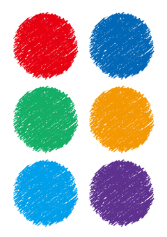 Crayon round colorful