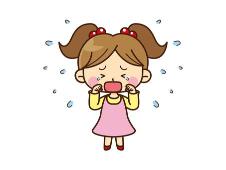 Family Illustration _ sister _ crying whole body