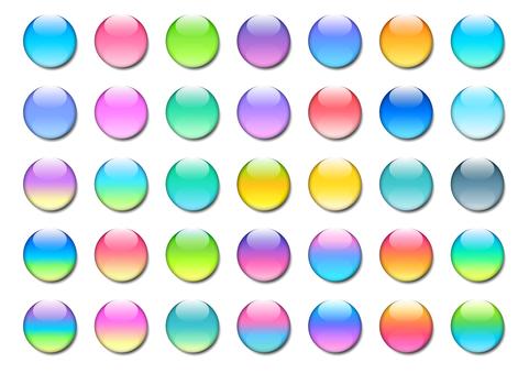 투명감이있는 원형 버튼