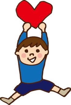 الطفل مع القلب