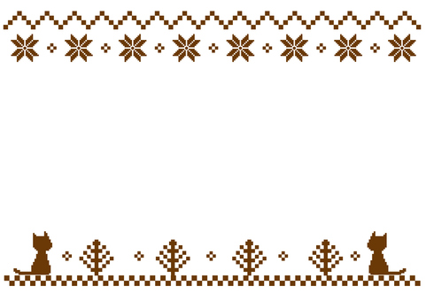 Nordic pattern frame (brown)