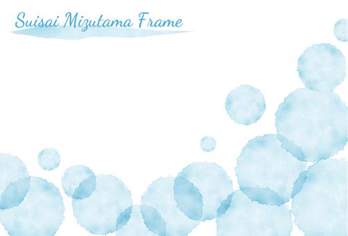 Watercolor polka dot frame 1