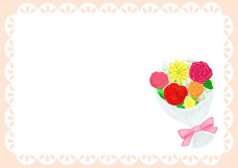 봄빛 부케 카드 프레임