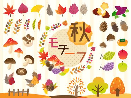 Fall motif various