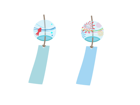Wind chimes of goldfish fireworks wind chimes