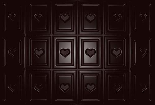 Board chocolate heart background