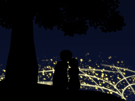 Night view and lover