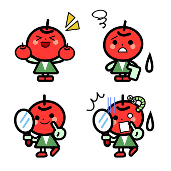 Simple apples' character set