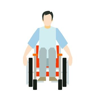 Male wheel chair