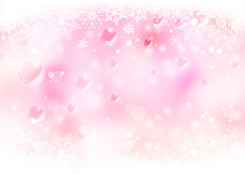 Snow crystal _ Pink background