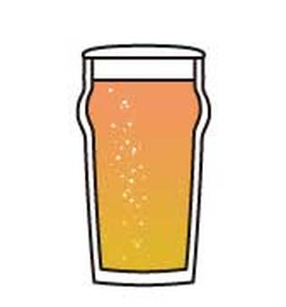 Beer pint glass