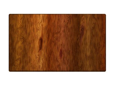 Dark wooden board