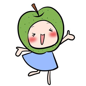 기뻐 없음 요정 녹색 옷 파랗